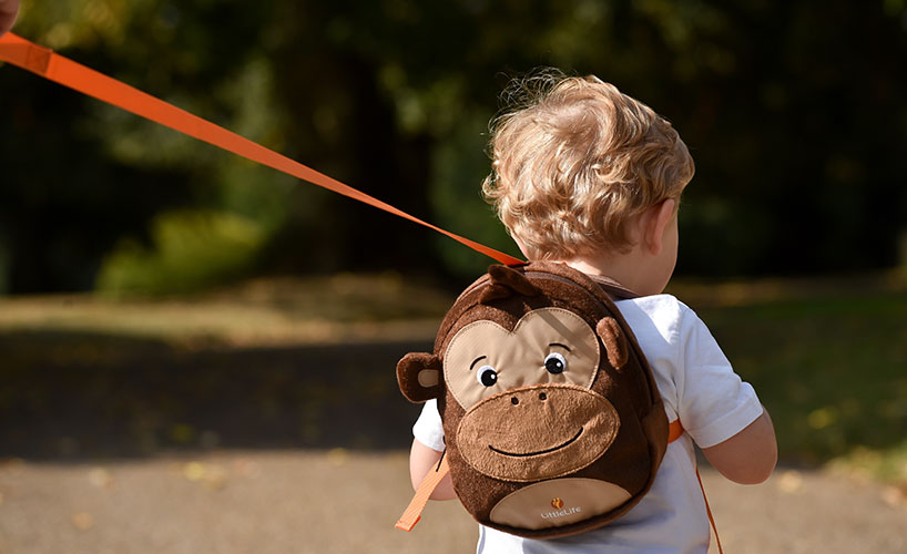 Monkey Toddler Backpack with Baby Rein