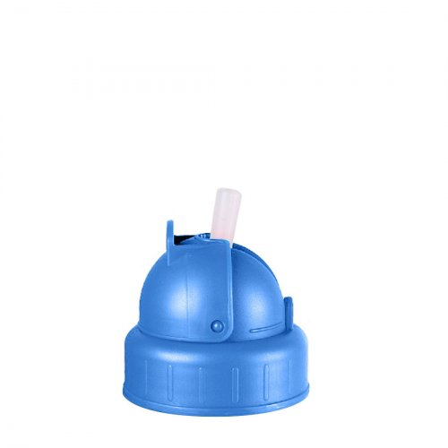 Water Bottle Spare Lid and Straw (Blue)