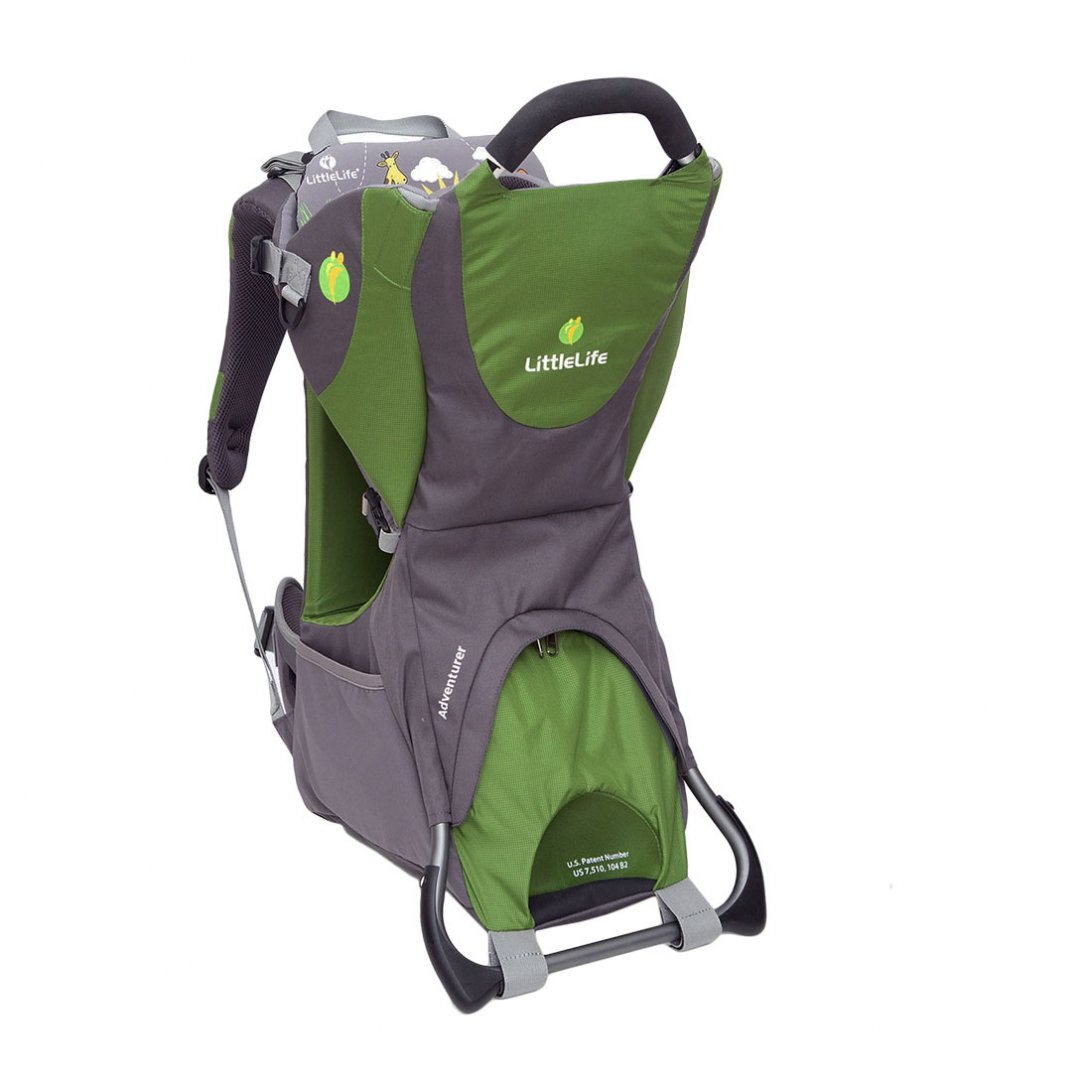 Green and grey adventurer child carrier