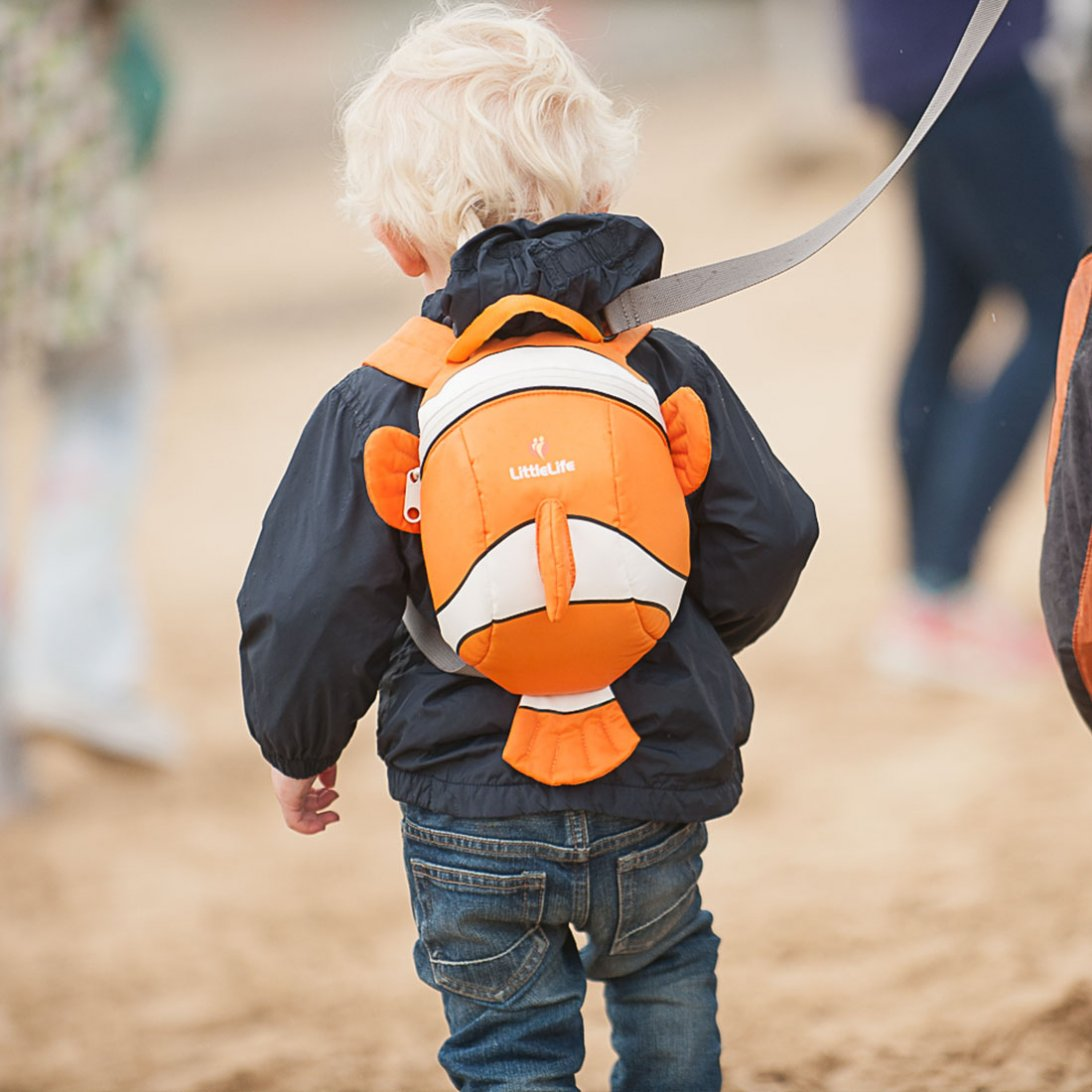 Clownfish Toddler Backpack with Rein