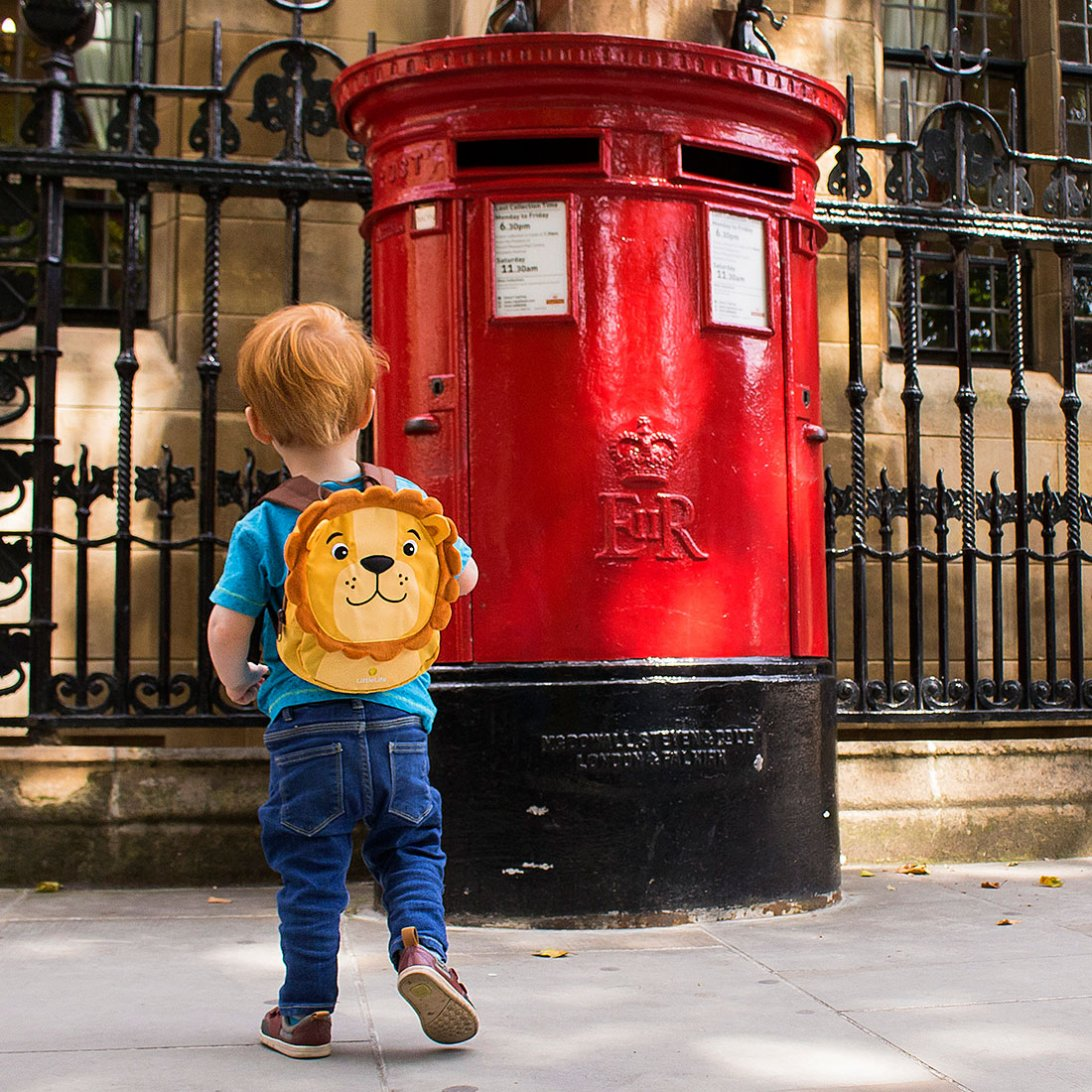 Lion Toddler Backpack Lifestyle