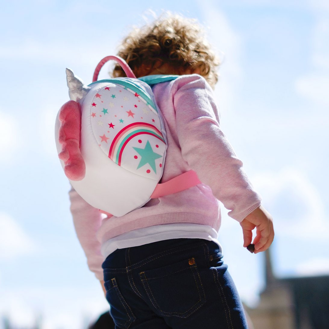 Unicorn Toddler Backpack with Rein lifestyle