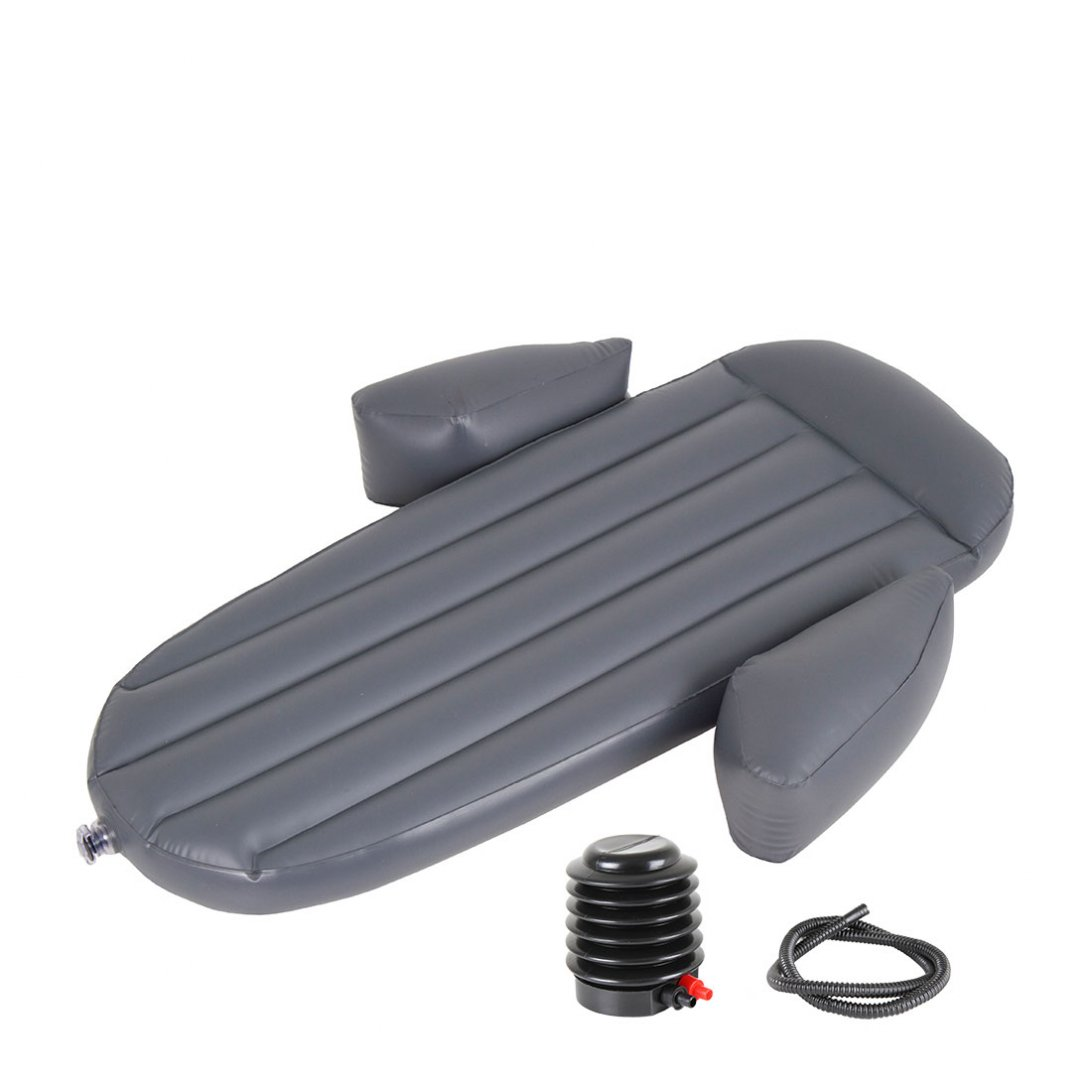 Mini foot-pump for snuggle pod and contoured airbed