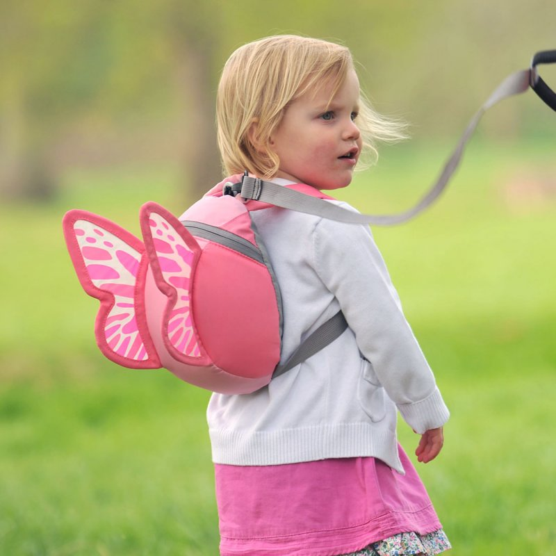 butterfly backpack with rein toddler backpacks littlelife. Black Bedroom Furniture Sets. Home Design Ideas