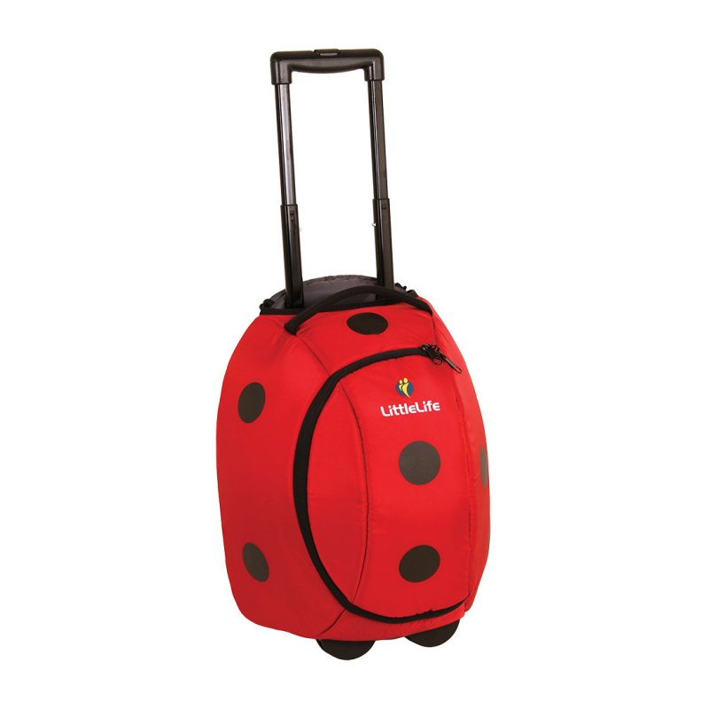 Red ladybird kids suitcase