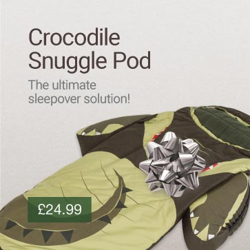 Crocodile Snuggle Pod Christmas Gift Idea Banner