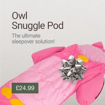 Owl Snuggle Pod Christmas Gift Idea Banner