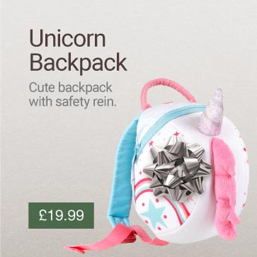 Unicorn Toddler Backpack with Rein Christmas Gift Idea Banner